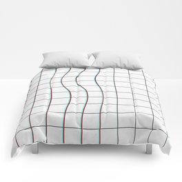 Square Glitch Pattern Comforters