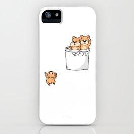 Cute Pocket Hamsters iPhone Case