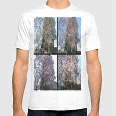 Tree Blossoms Mens Fitted Tee MEDIUM White