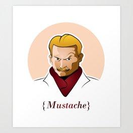 Mort Mustache Art Print