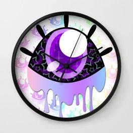 Melty Monster Eye Wall Clock