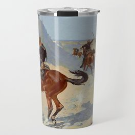 "Frederic Remington Western Art ""The Advance Guard"" Travel Mug"
