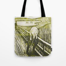 The Scream's Haze (yellow) Tote Bag