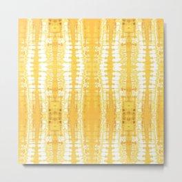 Shibori Itajime Table Yellow Metal Print