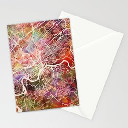 Knoxville map Stationery Cards