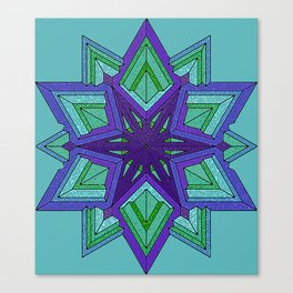 Star Violets Canvas Print