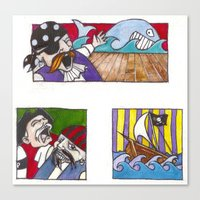 pirates Canvas Prints featuring Pirates by Rayna Polsky