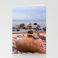 geology Stationery Cards featuring At the beach by UtArt