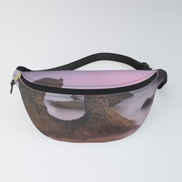 Roche Reefs. Cadiz. At pink Sunset. Spain Fanny Pack