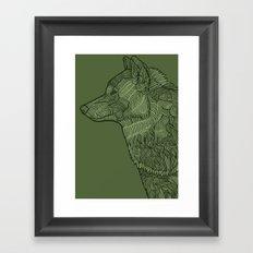 Enthusiastic Wolf Framed Art Print