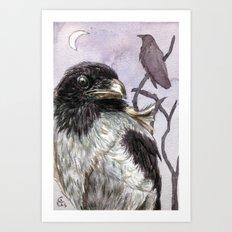 Moon Raven C005 Art Print