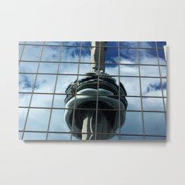 CN Tower Reflection Metal Print