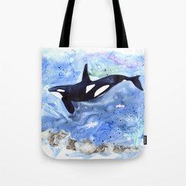 Loose Orca watercolor painting Tote Bag