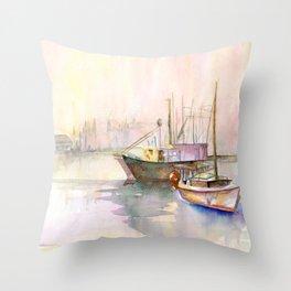 2 Boats Throw Pillow