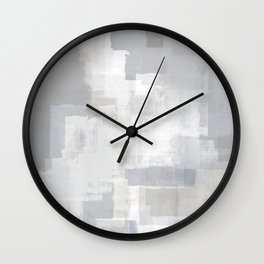 Gray on Grey Abstract Wall Clock