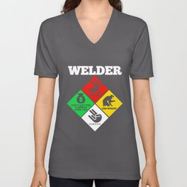 Weld Diamond - Life Welder Flammable Welder T-Shirts Unisex V-Neck