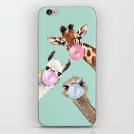 Bubble Gum Gang in Green iPhone Skin