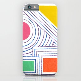 Geometric Outlines iPhone Case