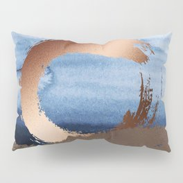 Inspiration: Gold, Copper And Blue Pillow Sham