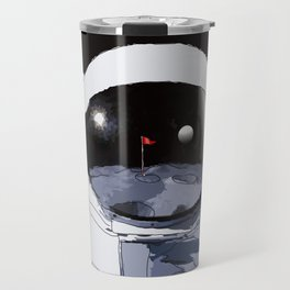 Astronaut Golf Course on the Moon Travel Mug