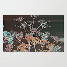 WILDFLOWERS in RED Rug