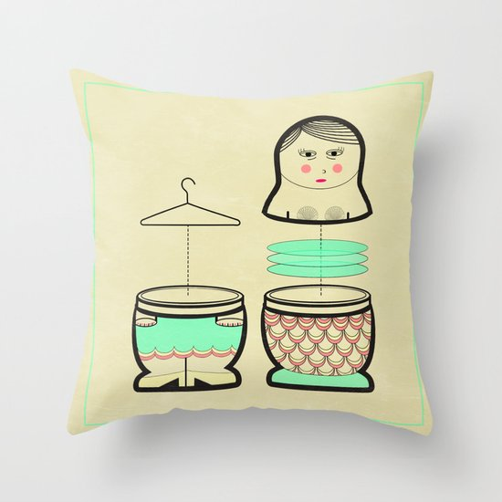 The mermaid who was tired of her tail ... Throw Pillow
