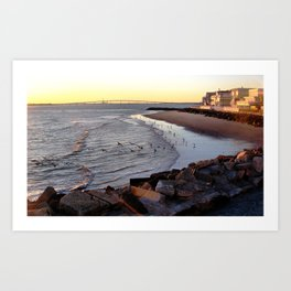 By the shore (New Jersey) Art Print
