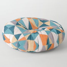 collage Style Abstract Art Floor Pillow