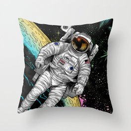 Cosmic astronaut Throw Pillow