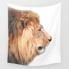Lion Profile Wall Tapestry