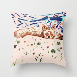 Dreaming long time Throw Pillow