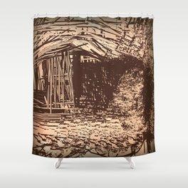 Hidden Shack Shower Curtain