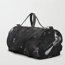 Space Cowboy Pattern Duffle Bag