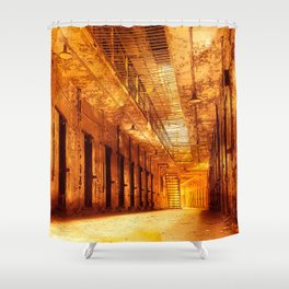 Infernal Prison Corridor Shower Curtain