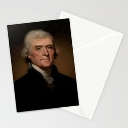portrait of Thomas Jefferson by Rembrandt Peale Stationery Cards