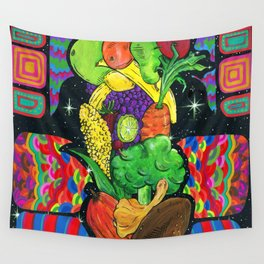 Eat Your Fruits and Veggies Wall Tapestry