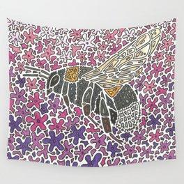Vanishing Bee by Black Dwarf Designs Wall Tapestry