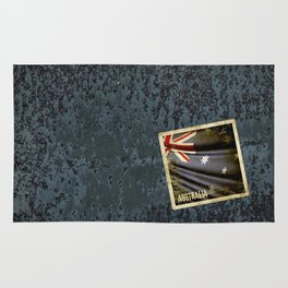 Grunge sticker of Australia flag Rug