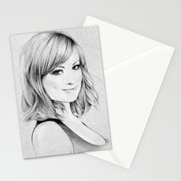Olivia Wilde portrait Stationery Cards