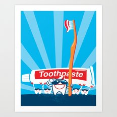 Teeth on Parade Art Print