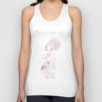 patriarchy Tank Tops featuring destroy the patriarchy (pretty feminist) by Adam M. Snowflake
