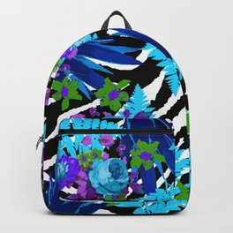 ZEBRA PALMS AND FERNS AND ROSES Backpack