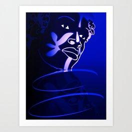 Ebony Blue Art Print