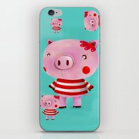 piglet iPhone & iPod Skins featuring Piglet by Gabriela Granados