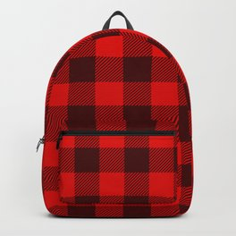 Buffalo Red And Black Flannel Pattern Backpack