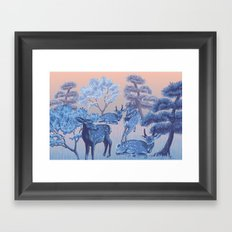 Arrival in Nara Framed Art Print