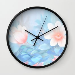 Blue Flowers Dream - Bodyart - Photography by Lana Chromium - beauty - woman - body - soul Wall Clock
