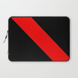 Oblique red and black Laptop Sleeve