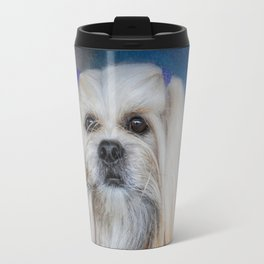 Handsome Lhasa Apso Travel Mug