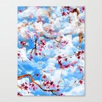 sakura Canvas Prints featuring SAKURA by sametsevincer